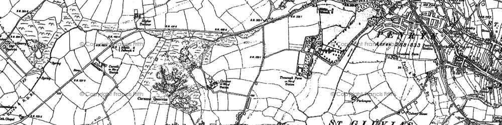 Old map of Mabe Burnthouse in 1906