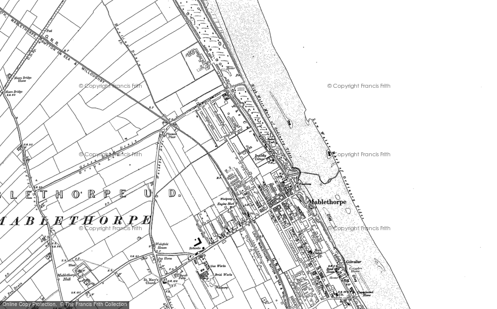 Map of Mablethorpe, 1888 - 1905