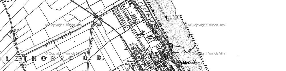 Old map of Mablethorpe in 1888