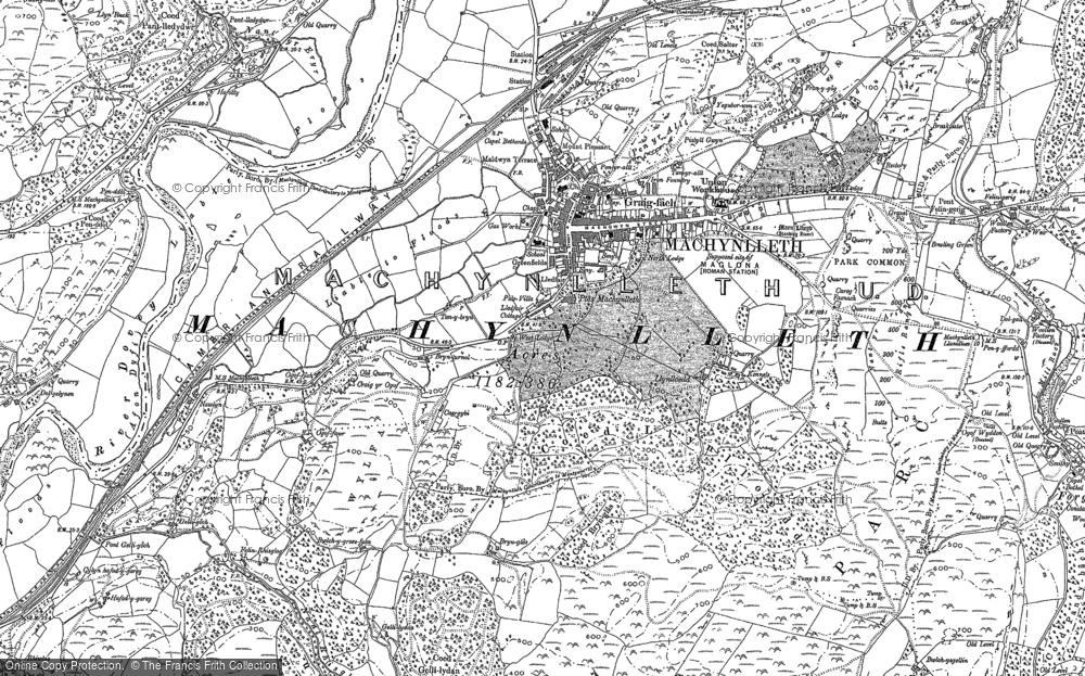 Map of Machynlleth, 1887 - 1900