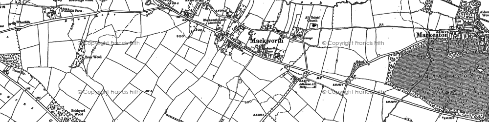 Old map of Mackworth in 1881