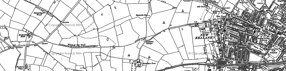 Old map of Markeaton in 1882