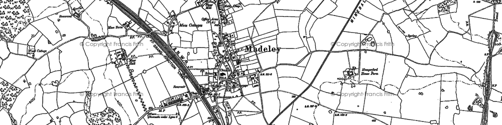 Old map of Bar Hill in 1878