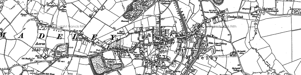 Old map of Madeley in 1882