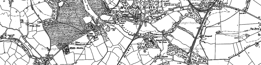 Old map of Windy Arbour in 1878