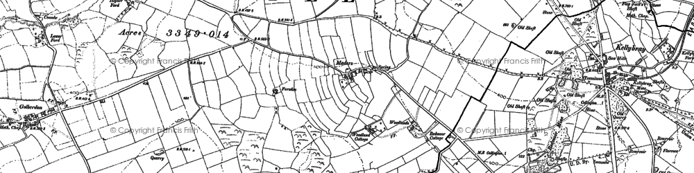 Old map of Maders in 1905