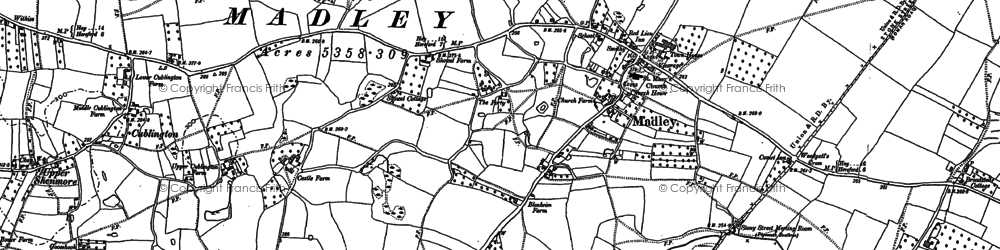 Old map of Madley in 1886