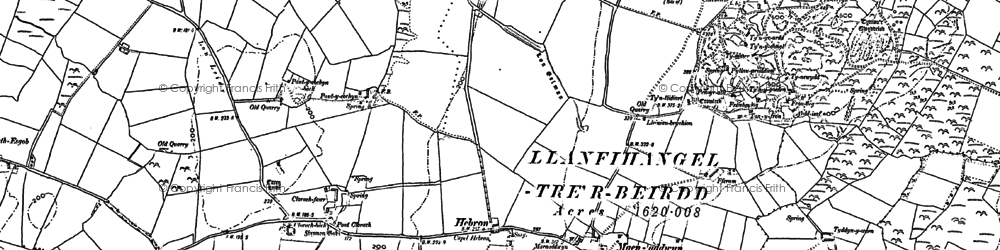 Old map of Hebron in 1887