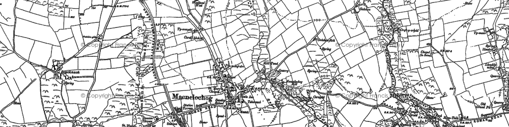 Old map of Maenclochog in 1887