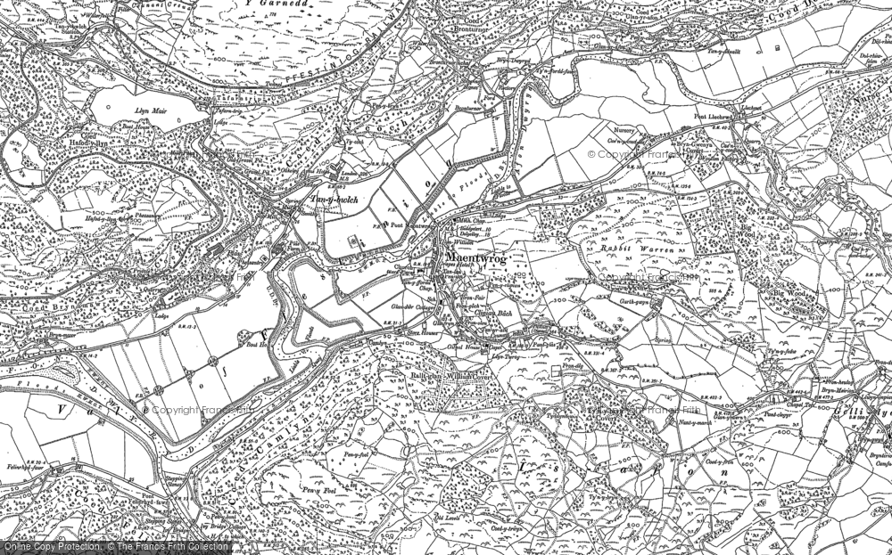 Old Map of Maentwrog, 1887 - 1899 in 1887