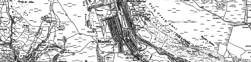 Old map of Afon Rhondda Fach in 1897