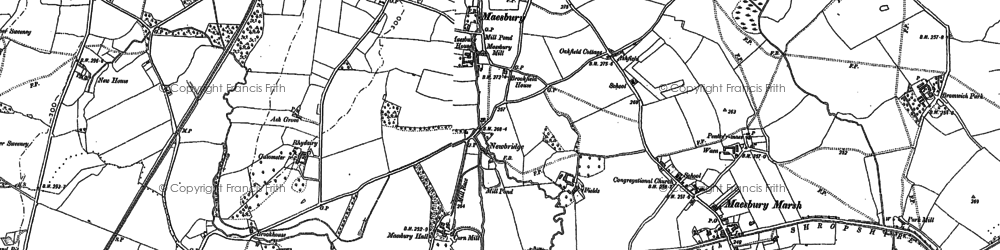 Old map of Ball in 1874