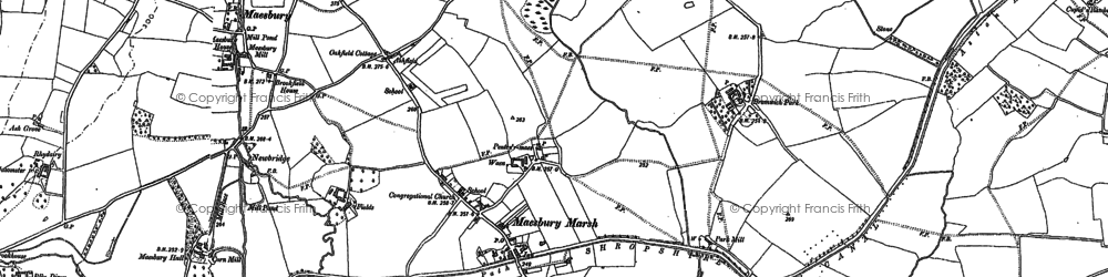Old map of Ashfield in 1874
