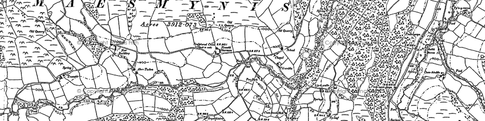 Old map of Allt Cynhelyg in 1903