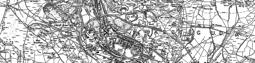 Old map of Maesteg in 1875