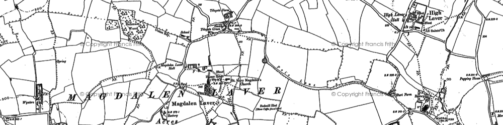Old map of Ashlyns in 1895