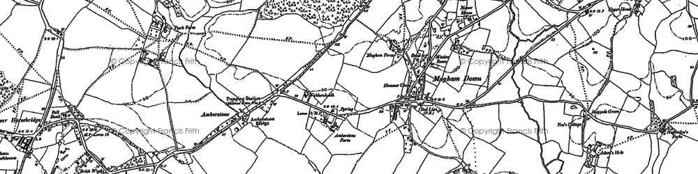 Old map of Whelpley Level in 1898