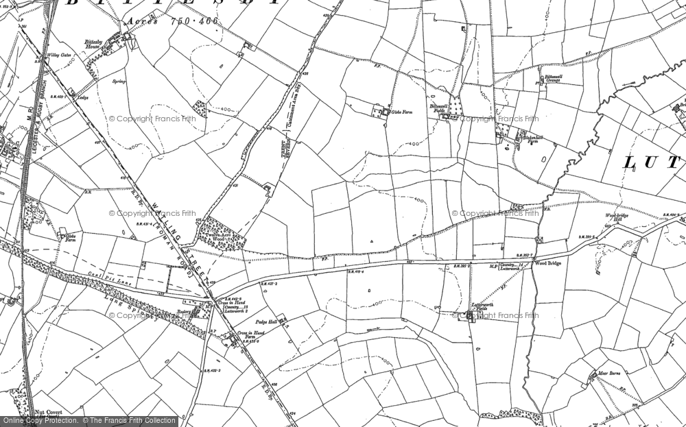 Old Map of Historic Map covering Wood Br in 1901