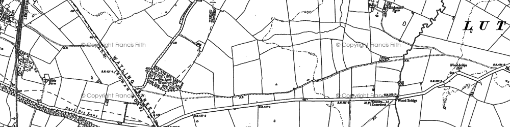 Old map of Wood Br in 1901