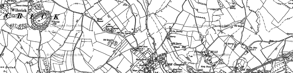 Old map of Magor in 1900