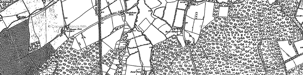 Old map of Whitely Hill in 1895