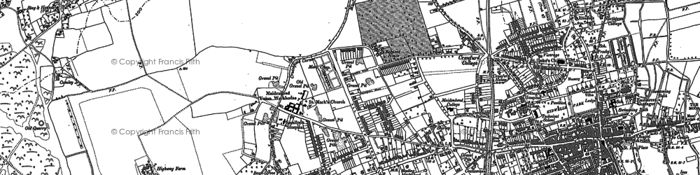 Old map of Maidenhead in 1910