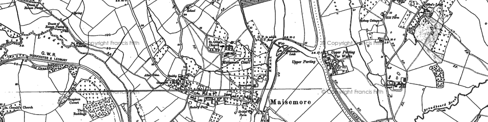 Old map of Abbot's Lodge in 1883