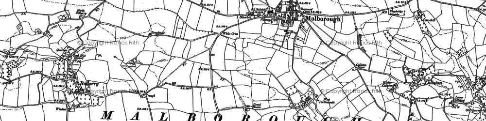 Old map of Malborough in 1905