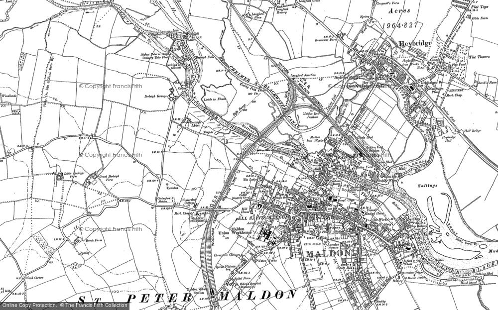 Map of Maldon, 1895
