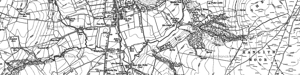 Old map of Aire Head in 1907