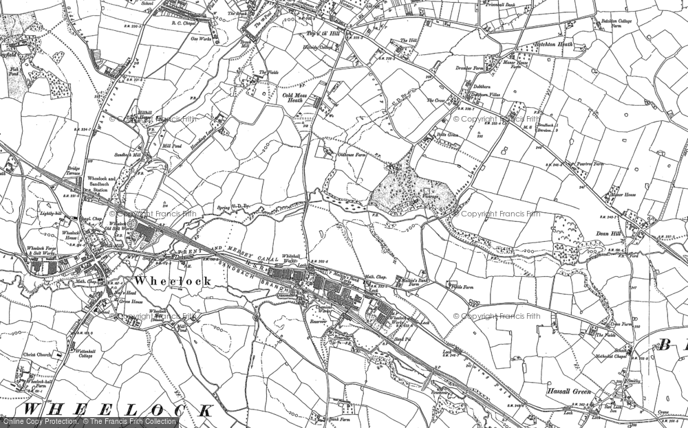 Old Map of Malkin's Bank, 1897 in 1897