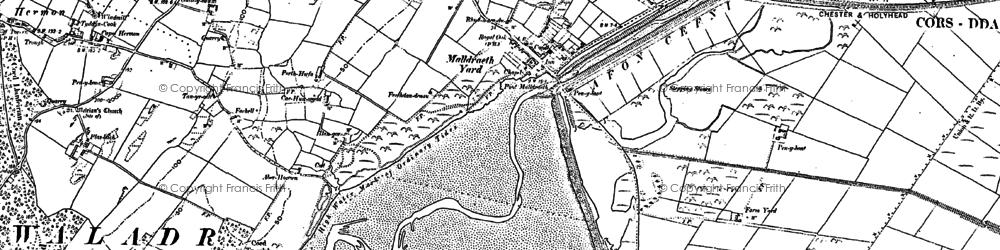 Old map of Malltraeth in 1899