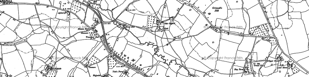 Old map of Alderleys, The in 1882