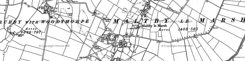 Old map of Axletree Hurn in 1887