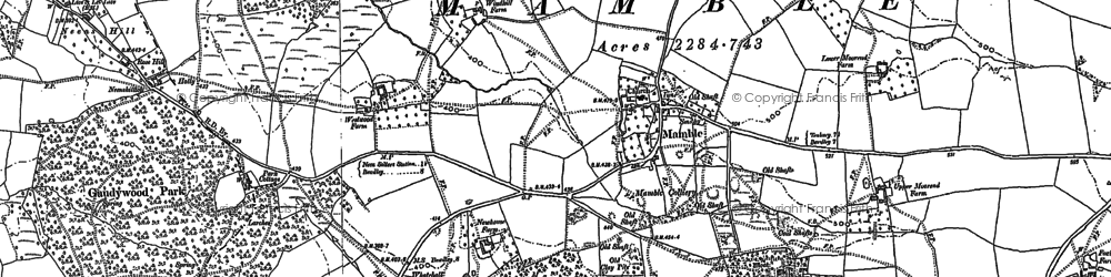 Old map of Wissett's Wood in 1901