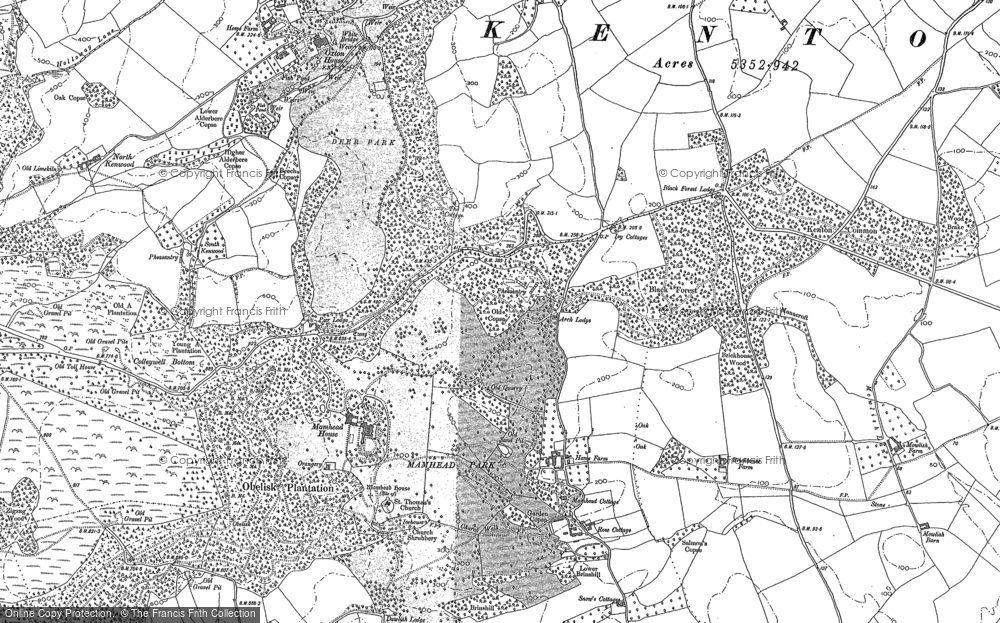 Old Map of Mamhead Ho, 1904 in 1904