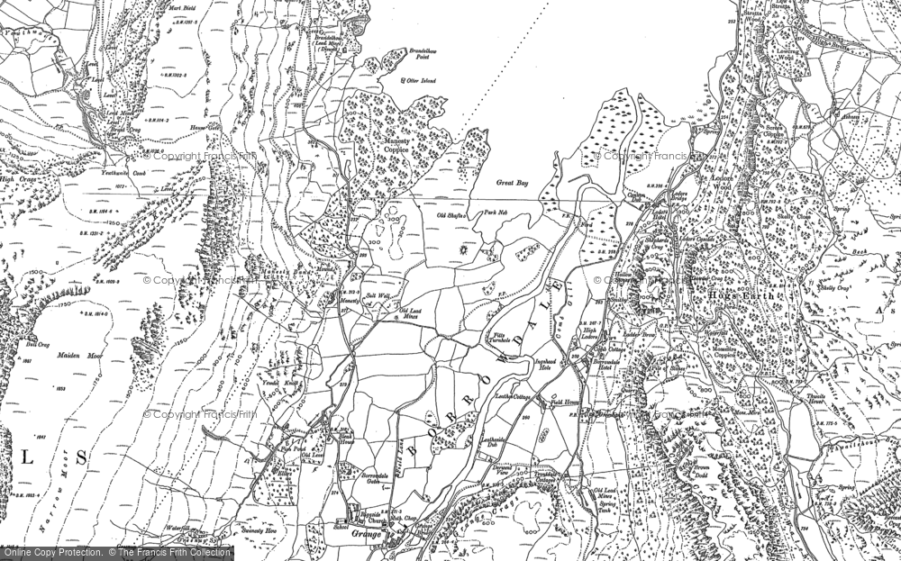 Old Map of Historic Map covering Abbot's Bay in 1898
