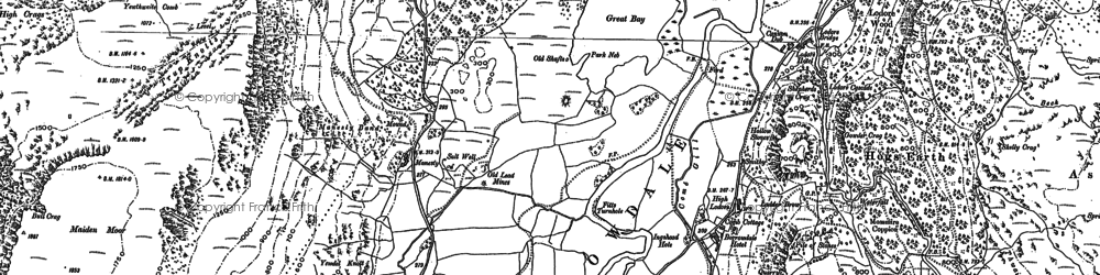 Old map of Ashness Br in 1898