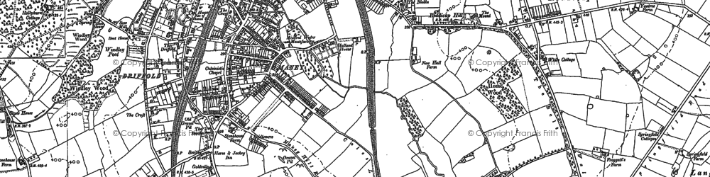 Old map of Wyndley Pool in 1887