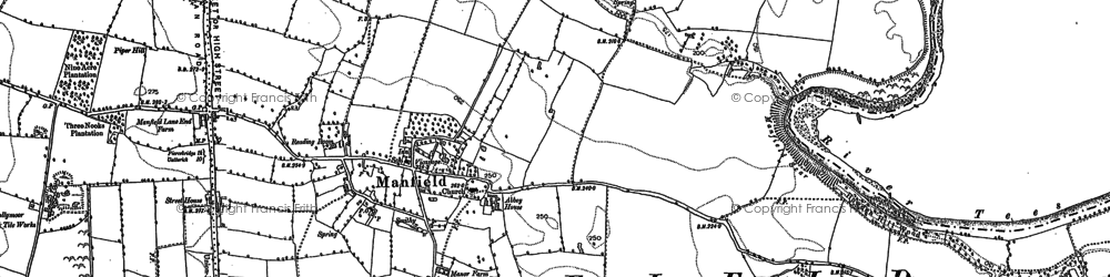 Old map of Zetland, The in 1892
