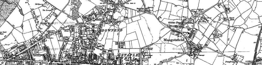 Old map of Mangotsfield in 1881