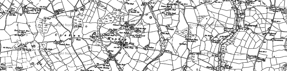 Old map of Manhay in 1877