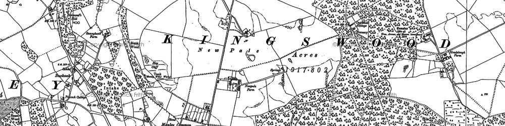 Old map of Kingswood in 1897