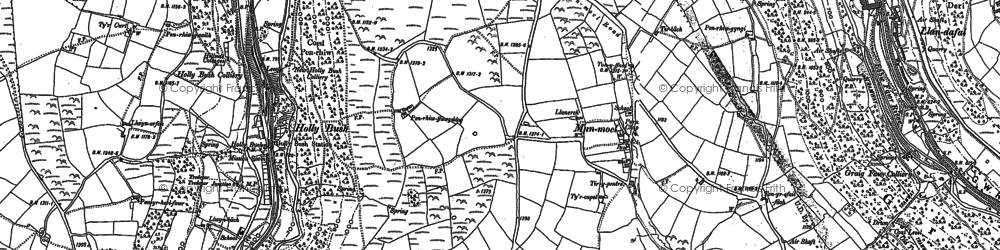 Old map of Manmoel in 1916