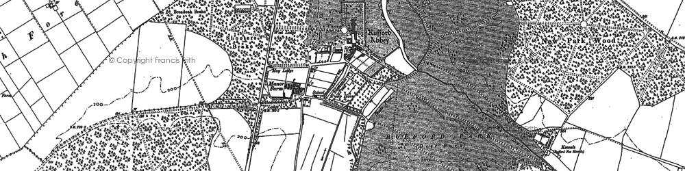 Old map of Amen Corner in 1884