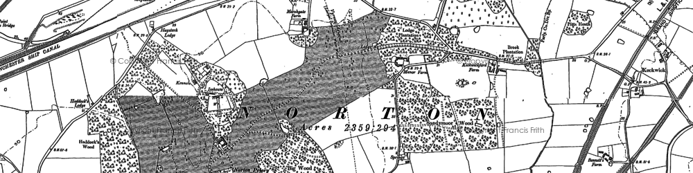 Old map of Wigg Island in 1897