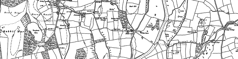 Old map of Wyndhammere in 1896