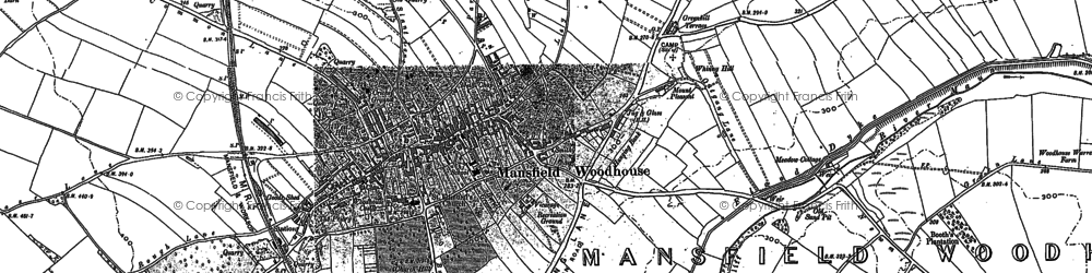 Old map of Whinney Hill in 1884