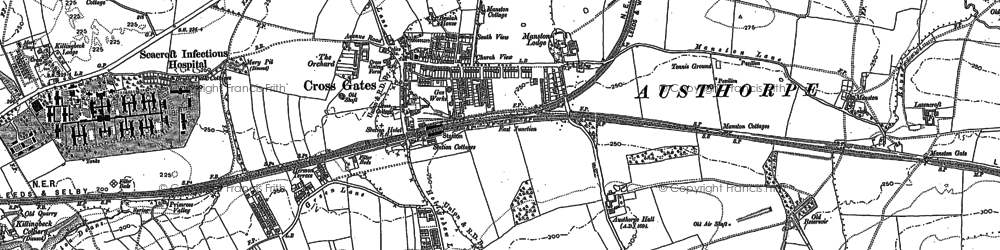 Old map of Austhorpe Hall in 1890