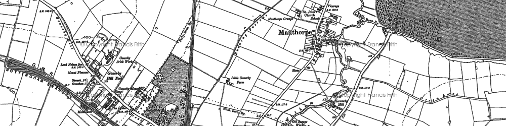 Old map of Alma Park Industrial Estate in 1885